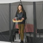 Camping canopy sidewall