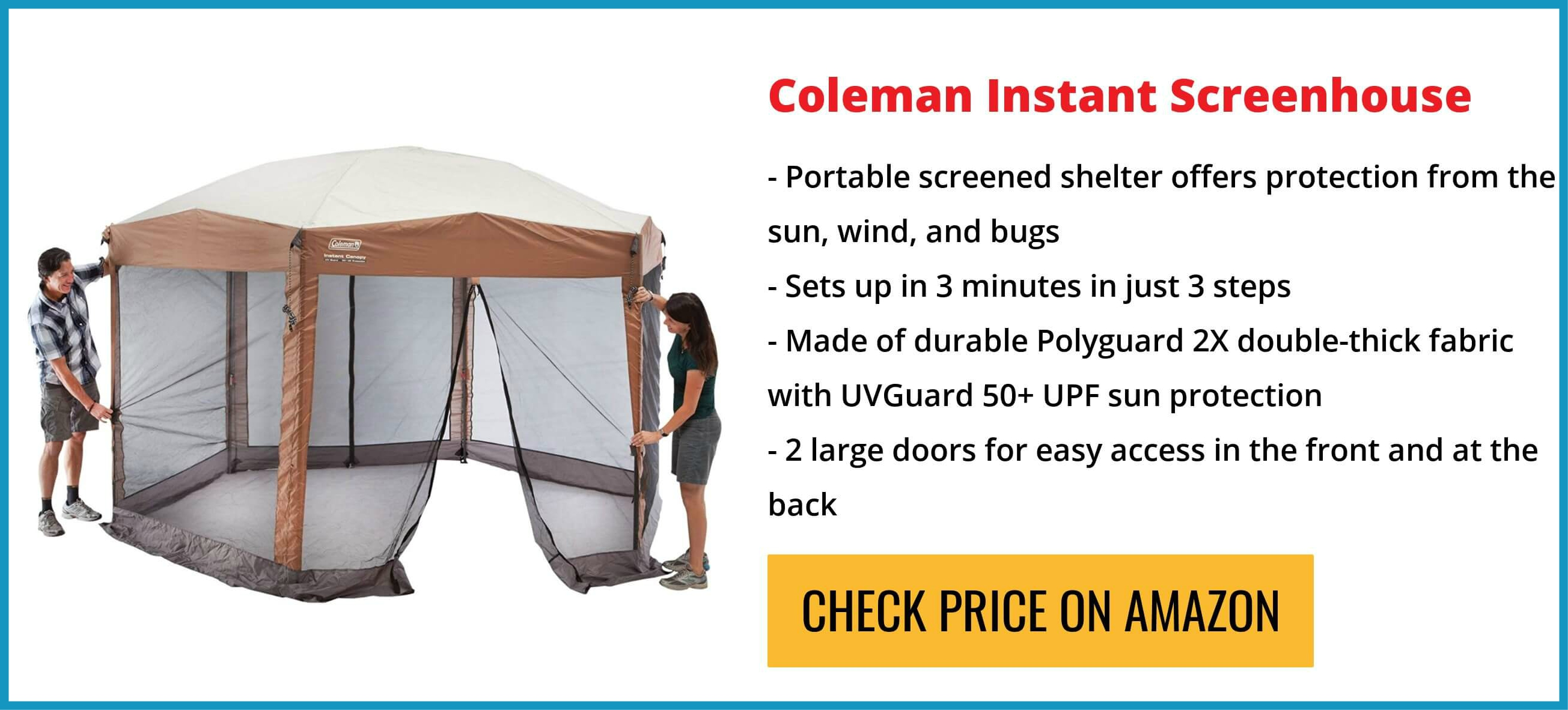 Coleman Instant Screened Canopy Review