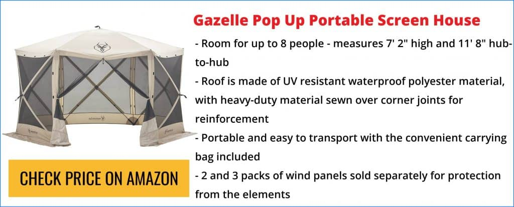 pop up screen tent with floor