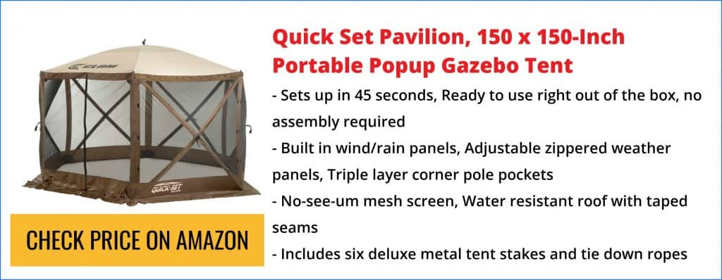 screen tent for picnic table