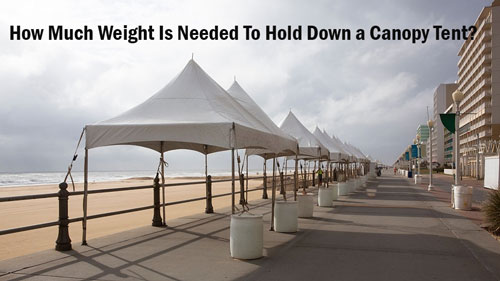 How Much Weight Is Needed To Hold Down a Canopy Tent
